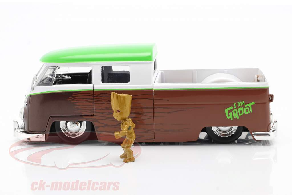 Volkswagen VW Bus PickUp 1963 Avec figure Groot Marvel Guardians 1:24 Jada Toys