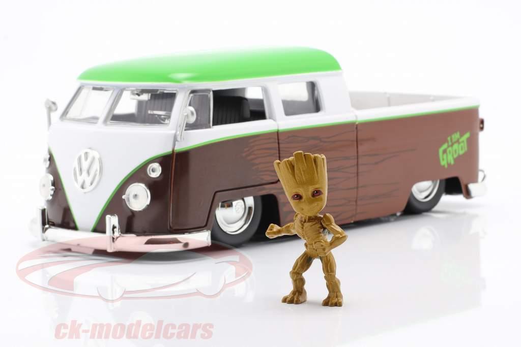 Volkswagen VW Bus PickUp 1963 Con figura Groot Marvel Guardians 1:24 Jada Toys