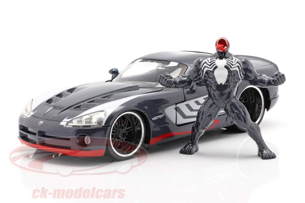 Dodge Viper Anno di costruzione 2008 Con figura Venom Marvel Spiderman 1:24 Jada Toys