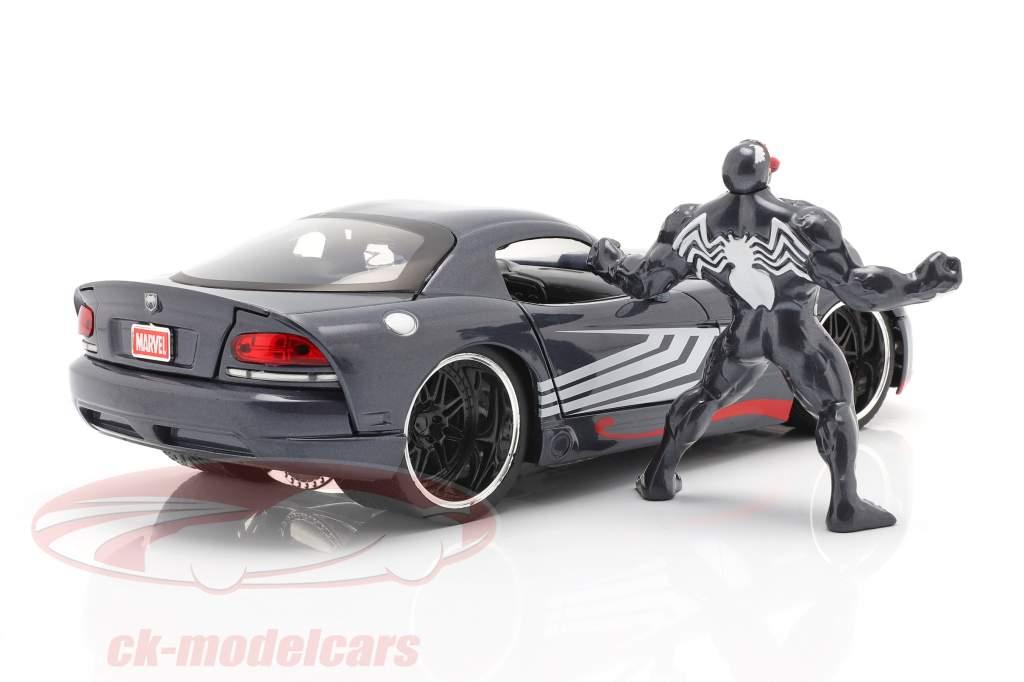 Dodge Viper Año de construcción 2008 Con figura Venom Marvel Spiderman 1:24 Jada Toys