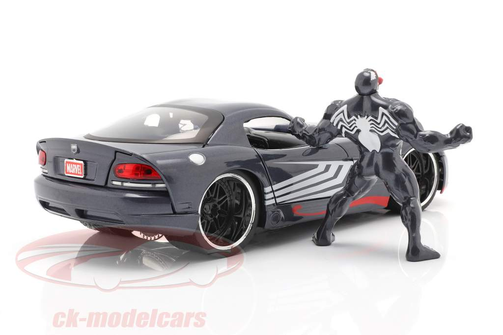 Dodge Viper Byggeår 2008 Med figur Venom Marvel Spiderman 1:24 Jada Toys