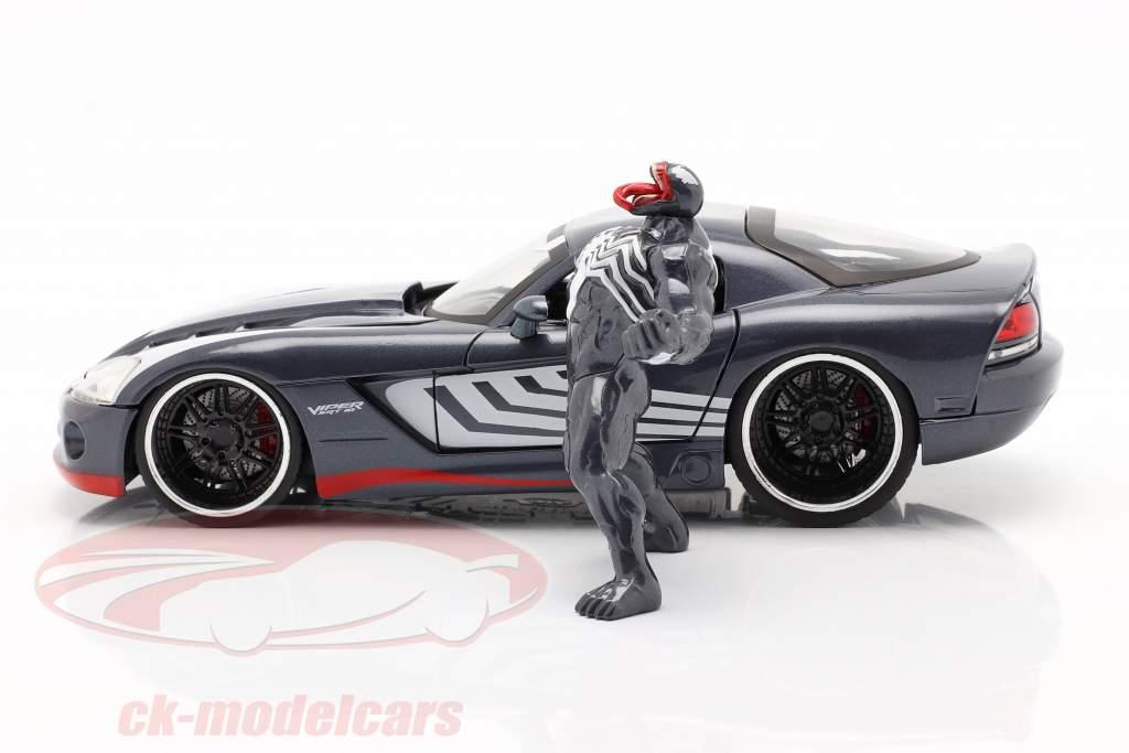 Dodge Viper Année de construction 2008 Avec figure Venom Marvel Spiderman 1:24 Jada Toys