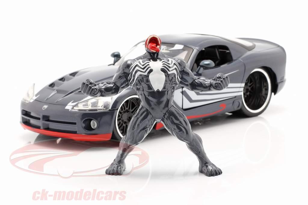 Dodge Viper Ano de construção 2008 Com figura Venom Marvel Spiderman 1:24 Jada Toys