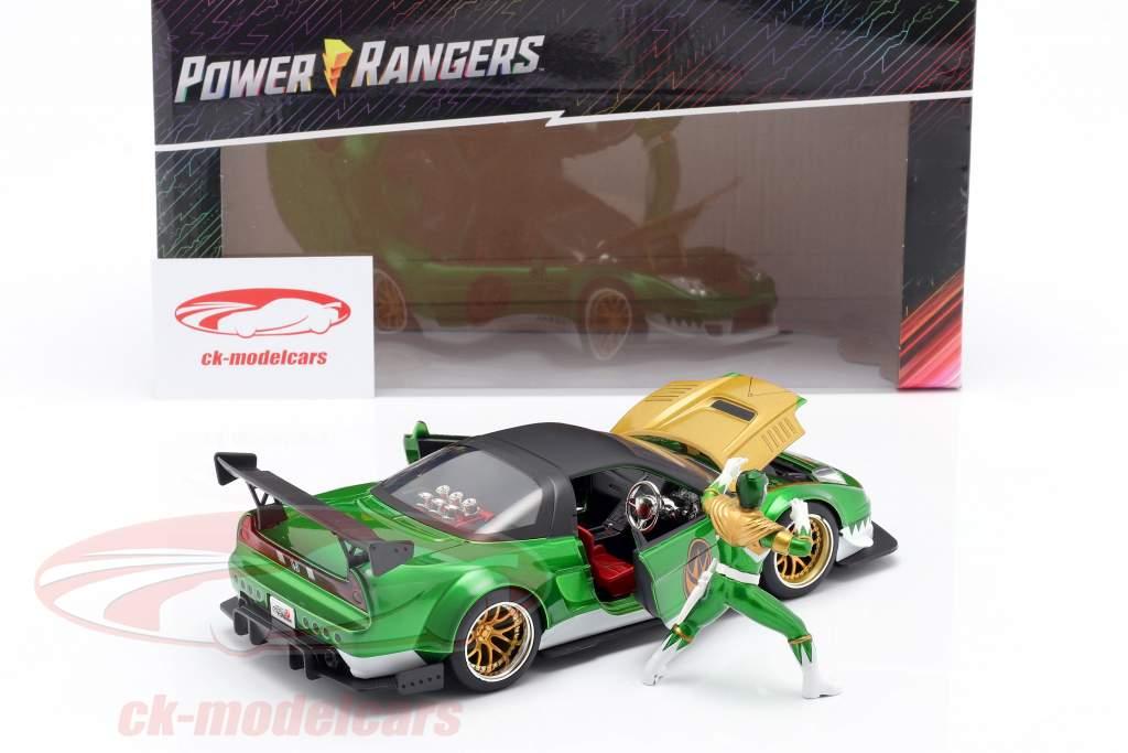 Honda NSX Type R 2002 Con figura Green Ranger Power Rangers 1:24 Jada Toys