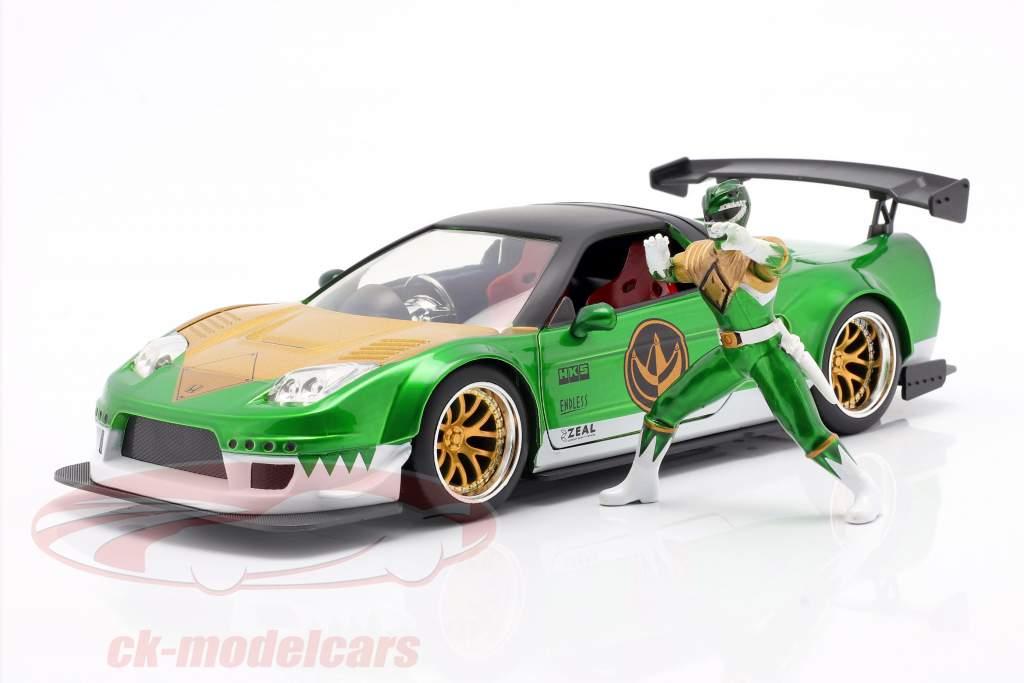 Honda NSX Type R 2002 Com figura Green Ranger Power Rangers 1:24 Jada Toys