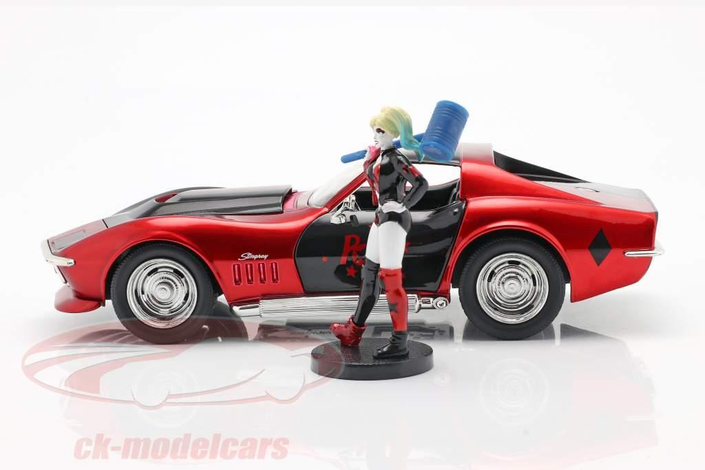 Chevrolet Corvette Stingray 1969 With figure Harley Quinn DC Comics 1:24 Jada Toys