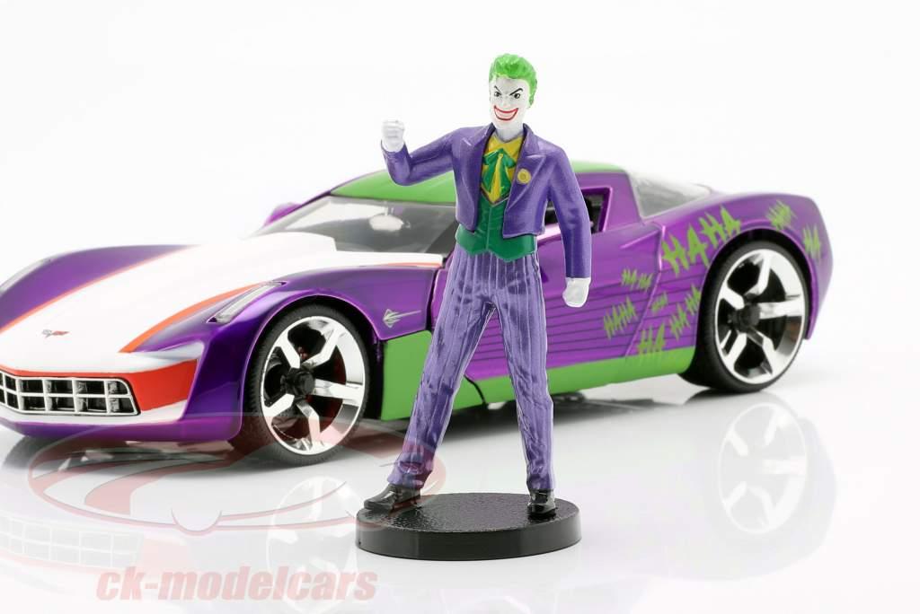 Chevrolet Corvette Stingray 2009 with figure The Joker DC Comics 1:24 Jada Toys