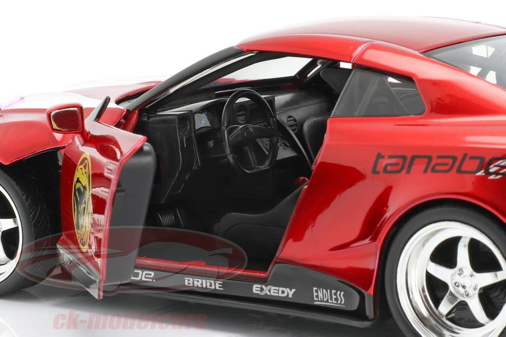 Nissan GT-R (R35) 2009 Met figuur Red Ranger Power Rangers 1:24 Jada Toys