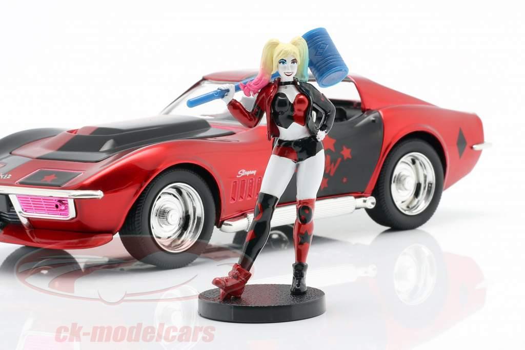 Chevrolet Corvette Stingray 1969 Med figur Harley Quinn DC Comics 1:24 Jada Toys