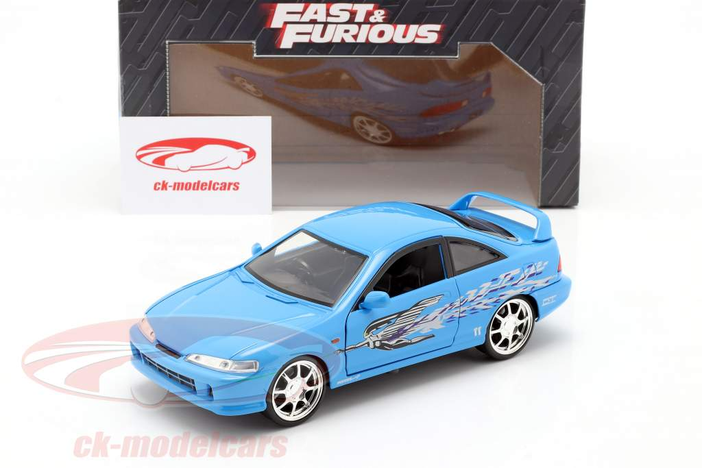 Mia's Honda Acura Integra 1995 Filme Fast & Furious (2001) azul 1:24 Jada Toys