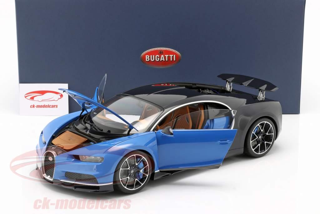 Bugatti Chiron Baujahr 2017 french racing blau / atlantic blau 1:12 AUTOart