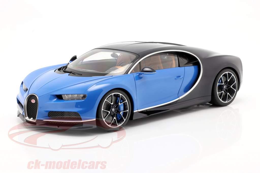 Bugatti Chiron Byggeår 2017 french racing blå / atlantic blå 1:12 AUTOart