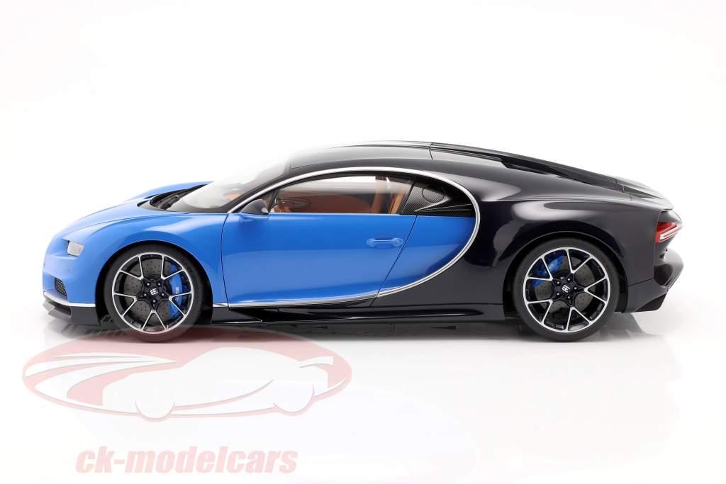 Bugatti Chiron Ano de construção 2017 french racing azul / atlantic azul 1:12 AUTOart