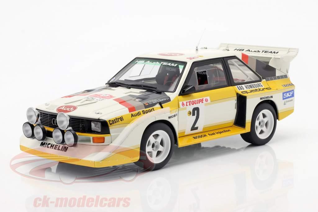 Audi Quattro S1 #2 4e Rallye Monte Carlo 1986 Röhrl, Geistdörfer 1:18 AUTOart