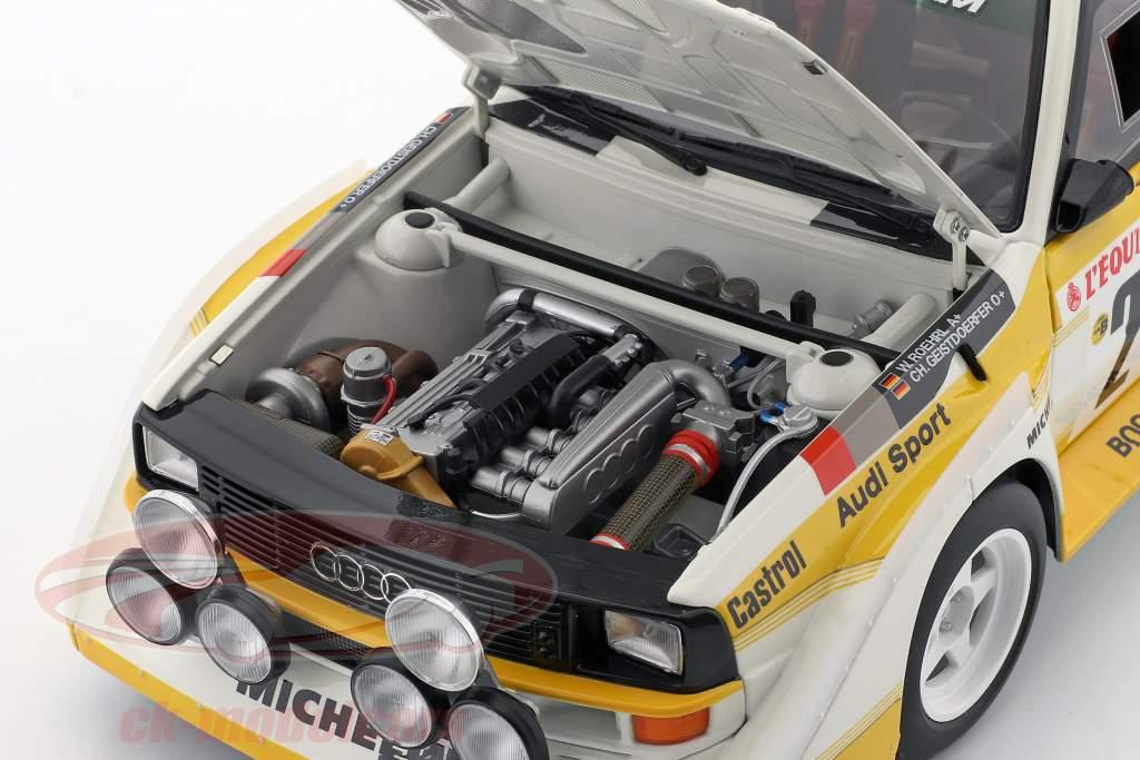 Audi Quattro S1 #2 4. Rallye Monte Carlo 1986 Röhrl, Geistdörfer 1:18 AUTOart