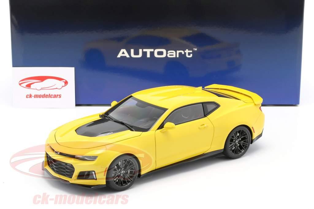 Chevrolet Camaro ZL1 Año de construcción 2017 brillante amarillo 1:18 AUTOart
