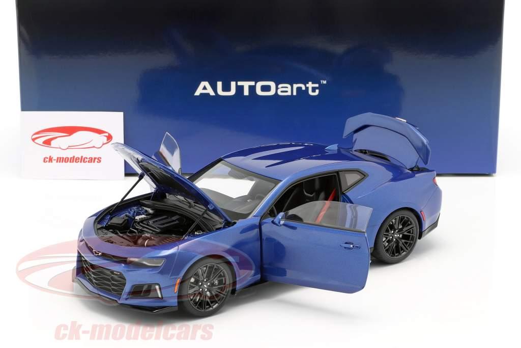 Chevrolet Camaro ZL1 Byggeår 2017 hyper blå metallisk 1:18 AUTOart