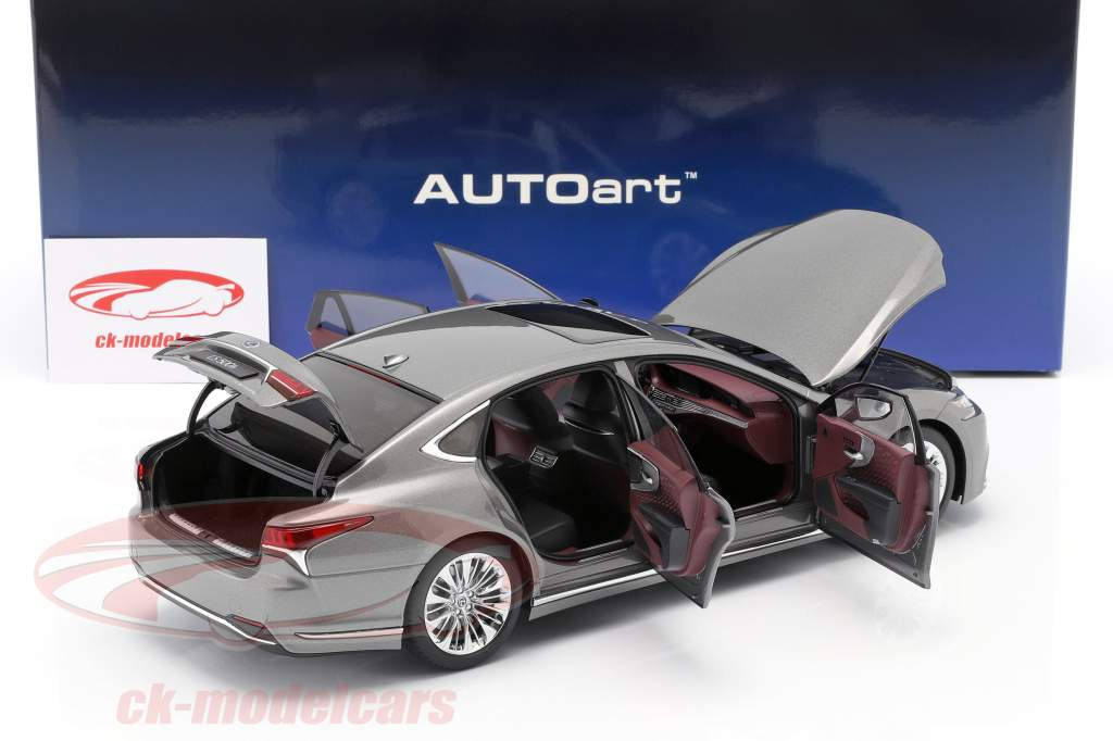 Lexus LS 500h year 2018 manganese luster metallic 1:18 AUTOart