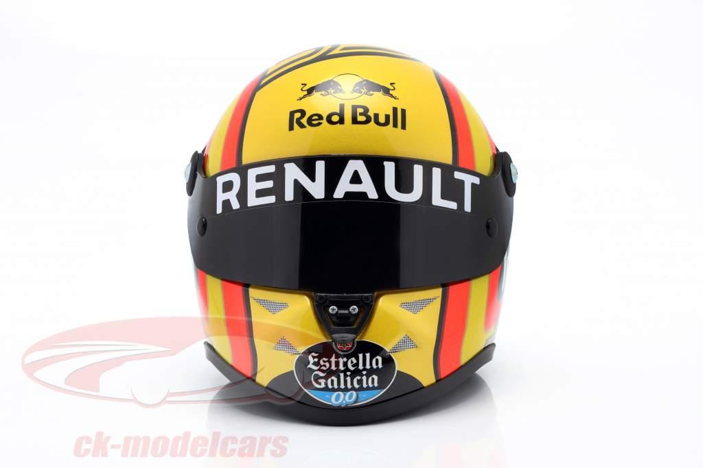 Carlos Sainz jr. #55 Renault Sport F1 Team formula 1 2018 casco 1:2 Schuberth