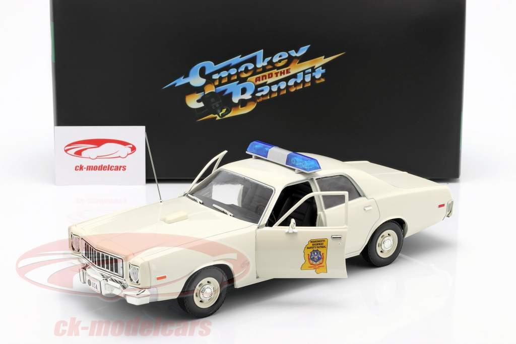 Plymouth Fury Highway Patrol 1975 Smokey and the Bandit 1977 hvid 1:18 Greenlight
