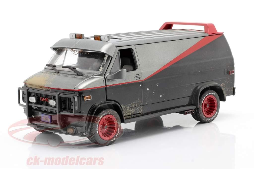 B.A.'s GMC Vandura Dirty Version 1983 TV serier The A-Team (1983-87) 1:24 Greenlight