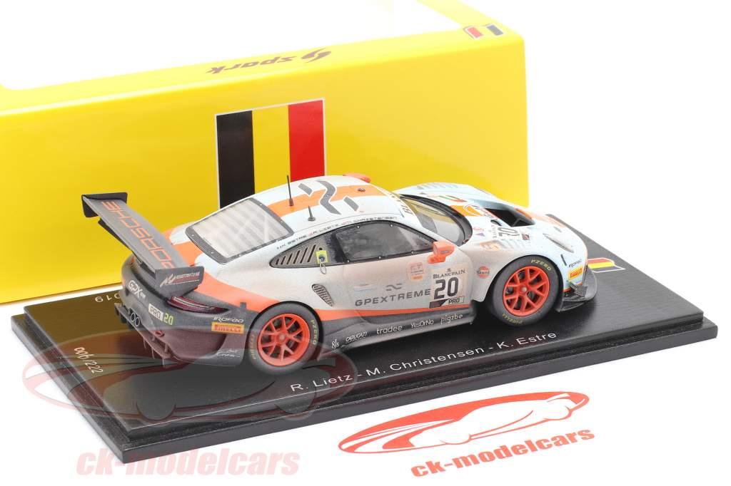 Porsche 911 GT3 R #20 vincitore 24h Spa 2019 Finish Line Dirty Version 1:43 Spark