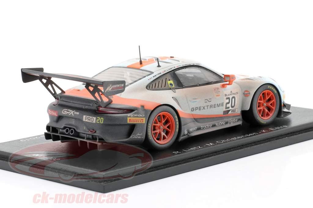 Porsche 911 GT3 R #20 Sieger 24h Spa 2019 Finish Line Dirty Version 1:43 Spark