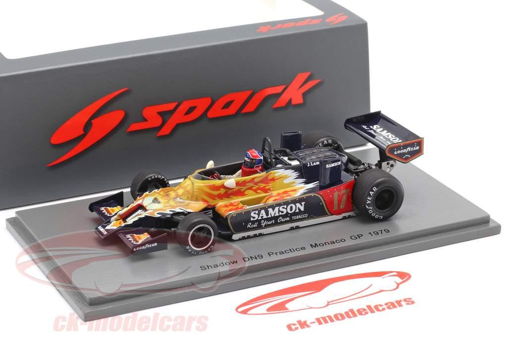 Jan Lammers Shadow DN9 #17 Practice Monaco GP Formel 1 1979 1:43 Spark