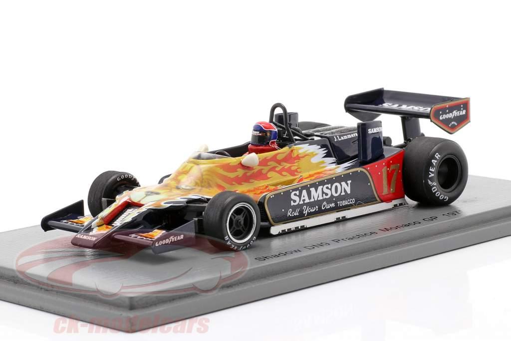 Jan Lammers Shadow DN9 #17 Øve sig Monaco GP formel 1 1979 1:43 Spark
