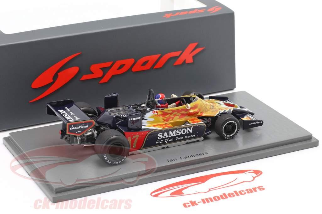 Jan Lammers Shadow DN9 #17 Prática Monaco GP Fórmula 1 1979 1:43 Spark