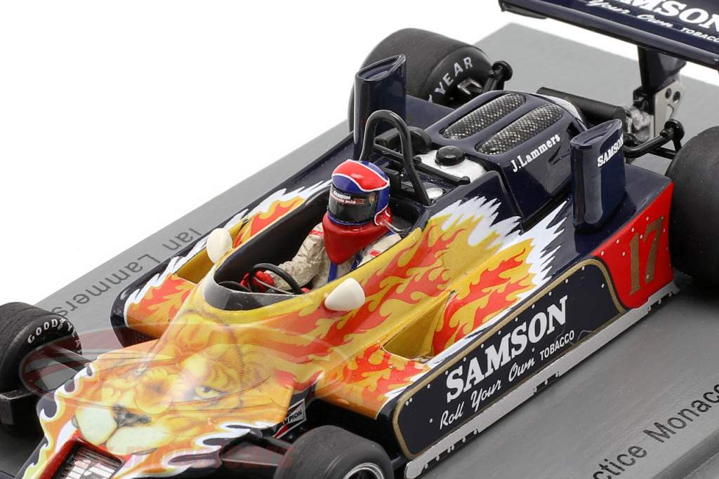 Jan Lammers Shadow DN9 #17 Práctica Monaco GP fórmula 1 1979 1:43 Spark