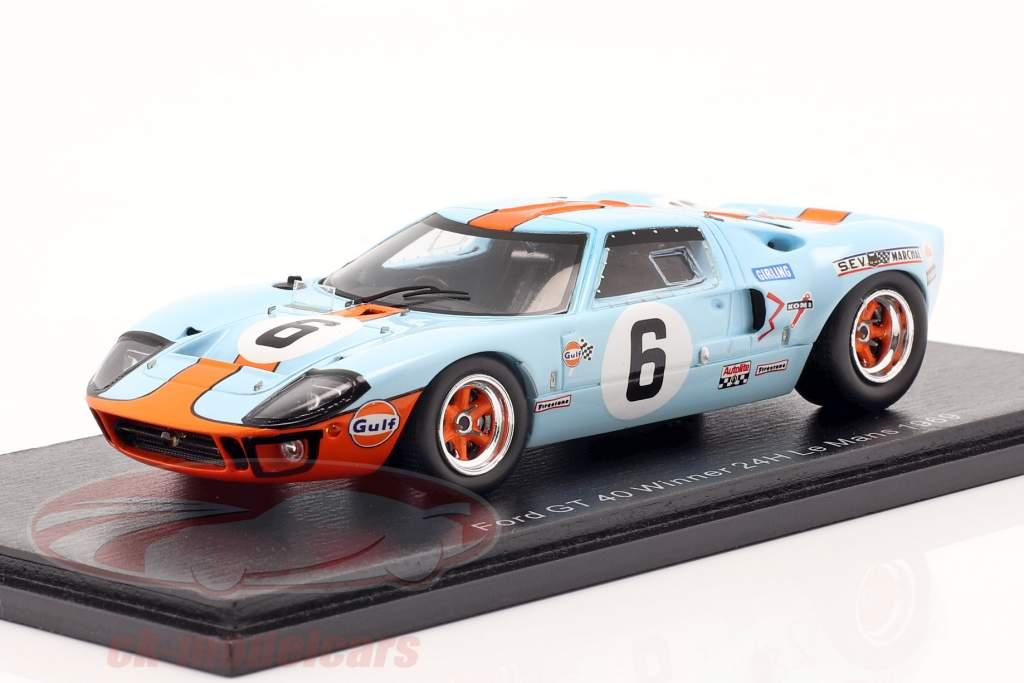Ford GT40 Gulf #6 winnaar 24h LeMans 1969 Ickx, Oliver 1:43 Spark