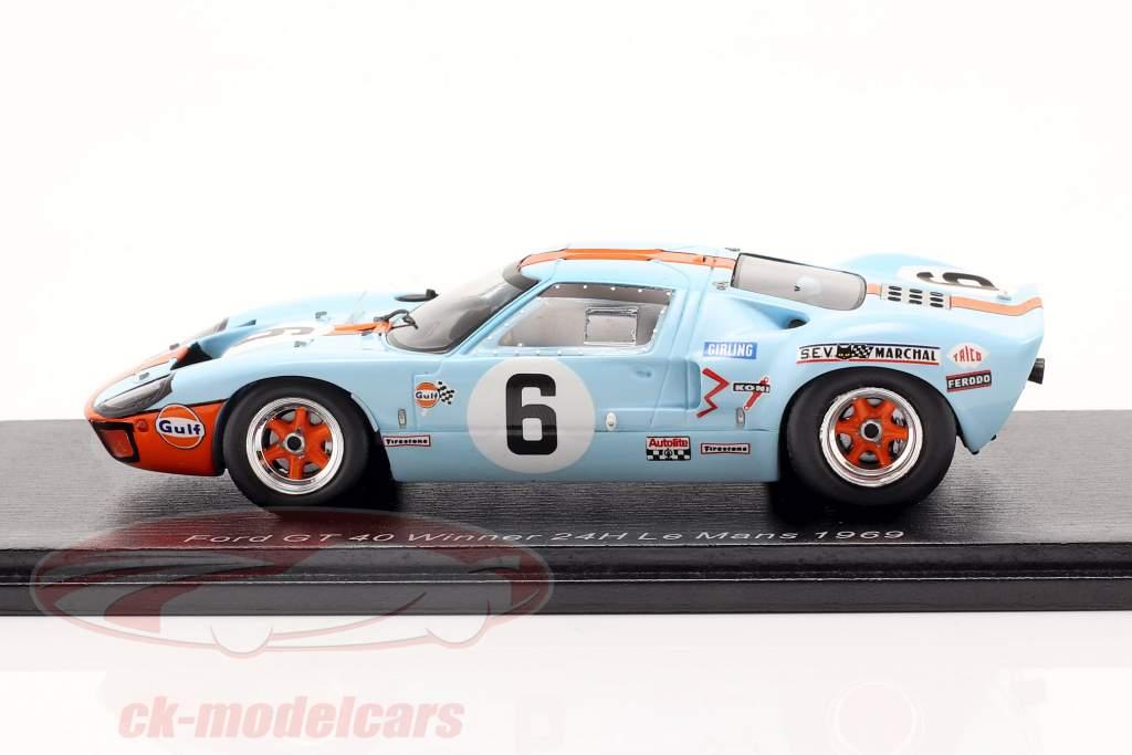 Ford GT40 Gulf #6 Sieger 24h LeMans 1969 Ickx, Oliver 1:43 Spark