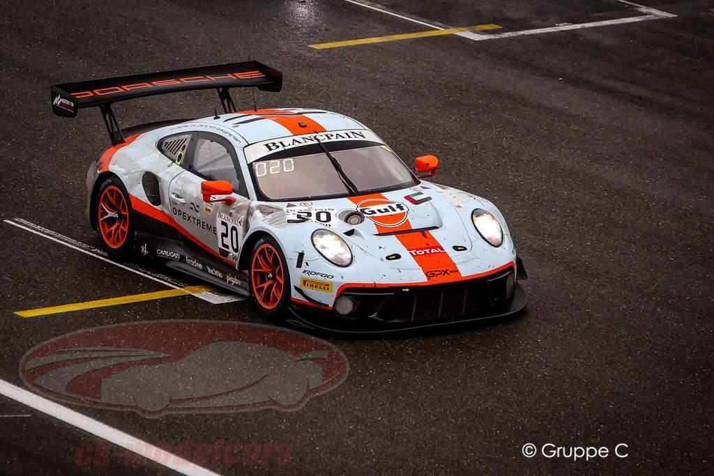 Porsche 911 GT3 R #20 ganador 24h Spa 2019 Finish Line Dirty Version 1:43 Spark