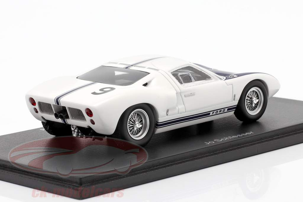 Ford GT #9 teste abril LeMans 1969 Jo Schlesser 1:43 Spark