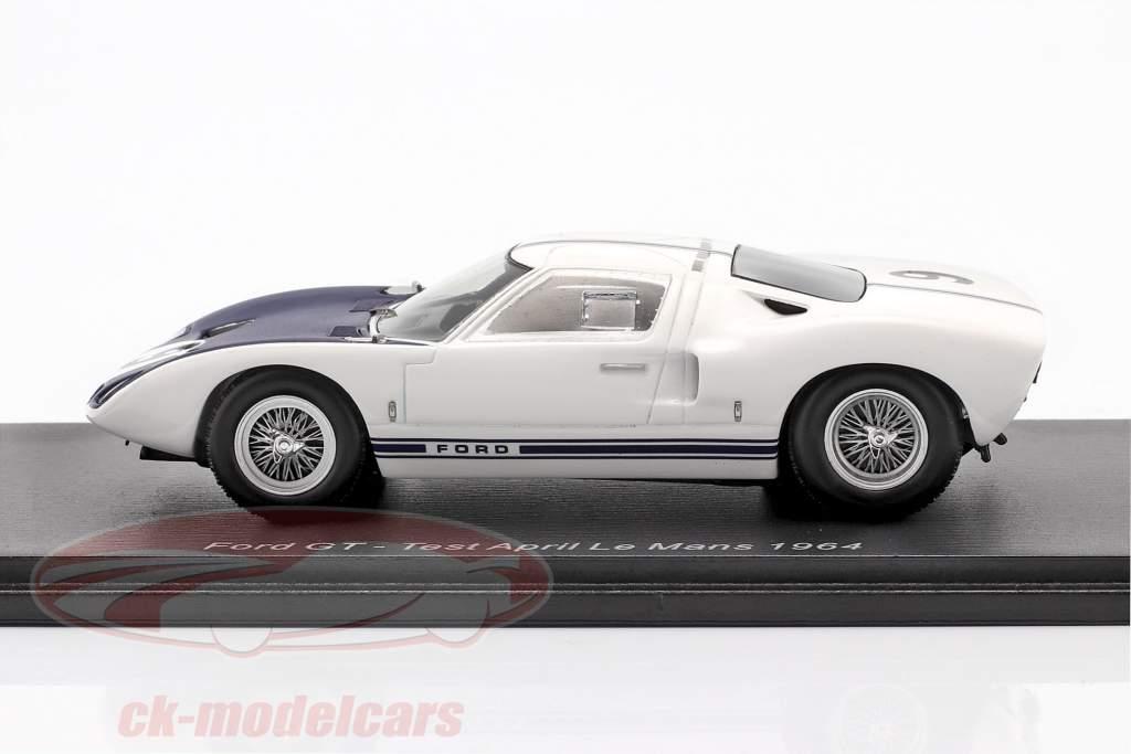 Ford GT #9 tester avril LeMans 1969 Jo Schlesser 1:43 Spark