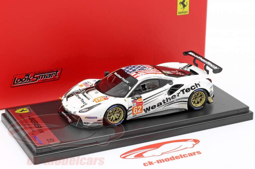 Ferrari 488 GTE #62 24h LeMans 2019 MacNeil, Smith, Vilander 1:43 LookSmart