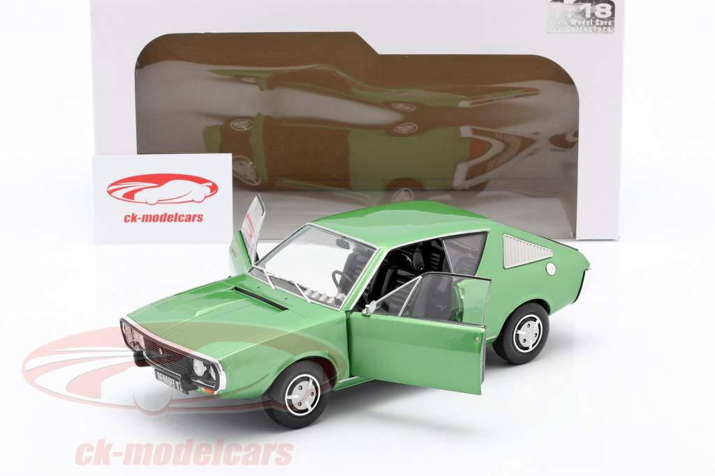 Renault R17 year 1976 green metallic 1:18 Solido