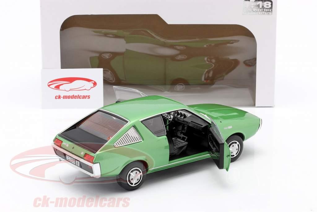 Renault R17 jaar 1976 groen metalen 1:18 Solido
