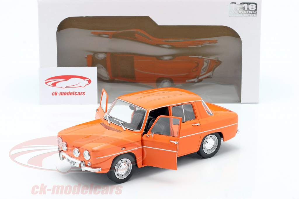 Renault 8 TS anno 1967 arancia 1:18 Solido
