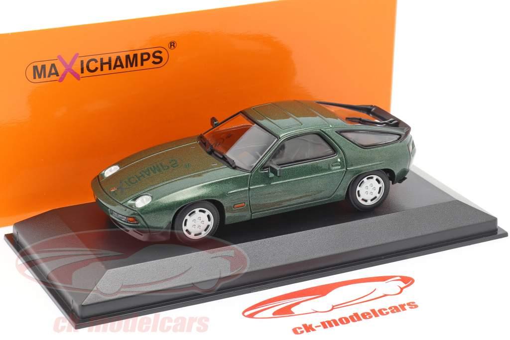 Porsche 928 S año 1979 verde metálico 1:43 Minichamps