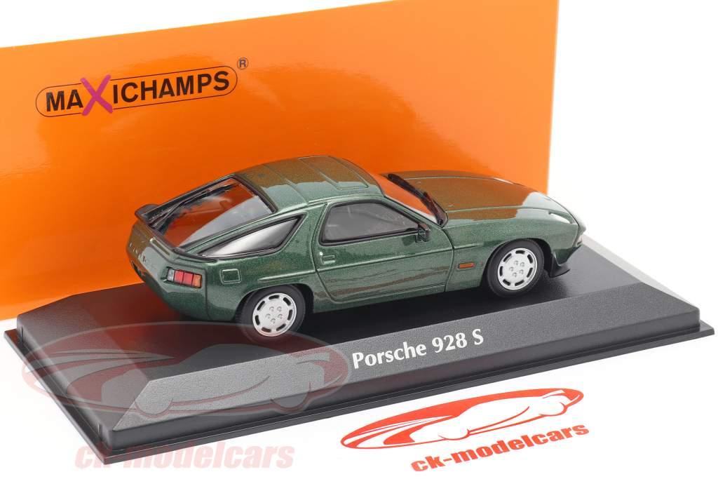Porsche 928 S an 1979 vert métallique 1:43 Minichamps
