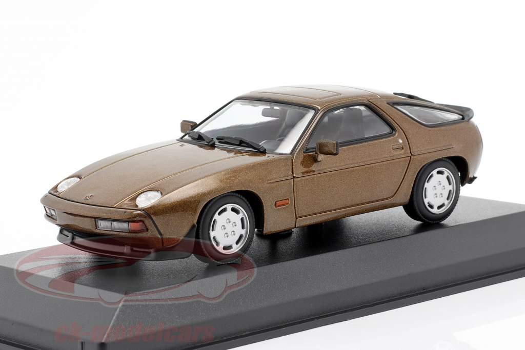 Porsche 928 S año 1979 marrón metálico 1:43 Minichamps