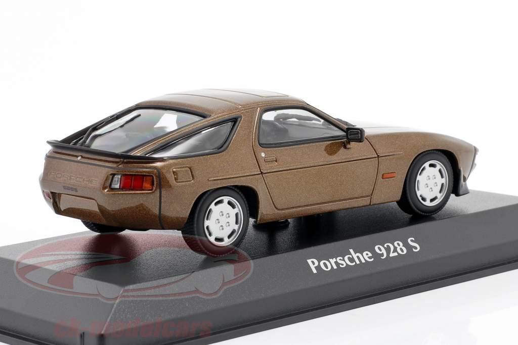 Porsche 928 S year 1979 brown metallic 1:43 Minichamps