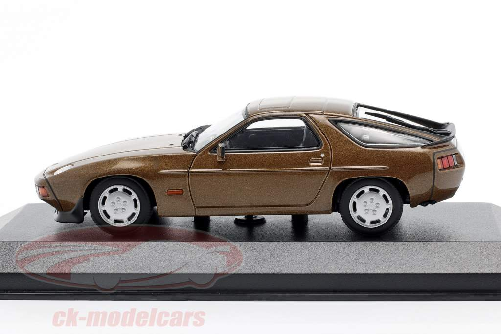 Porsche 928 S anno 1979 Marrone metallico 1:43 Minichamps