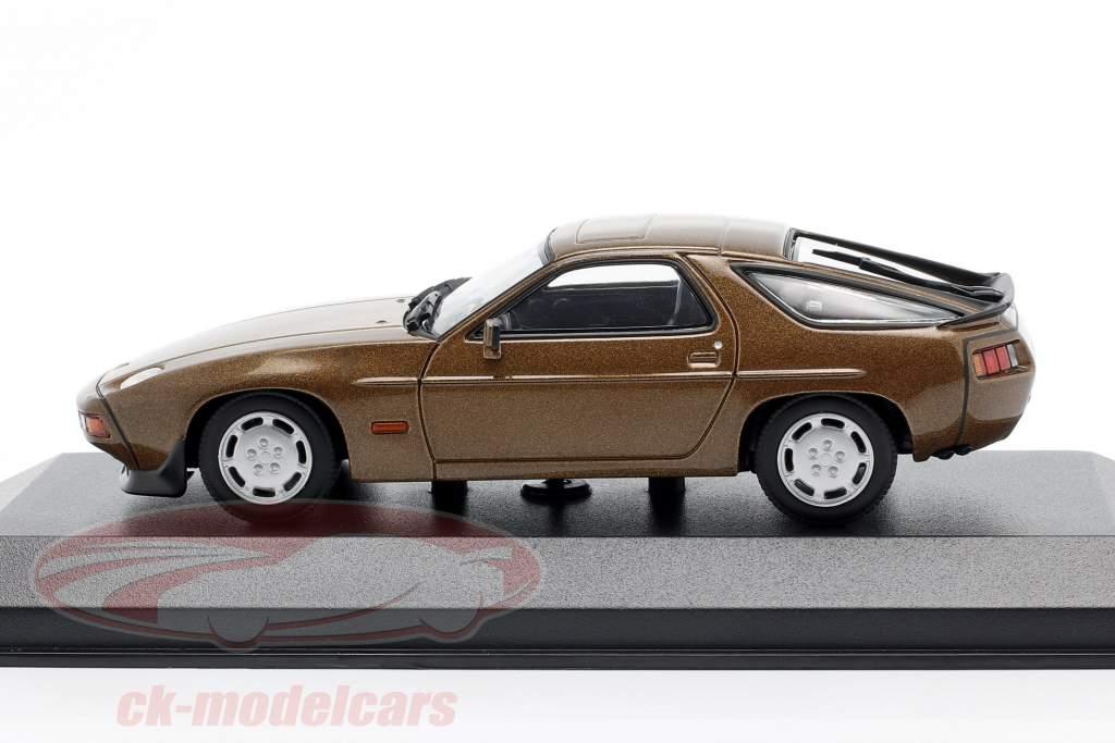 Porsche 928 S år 1979 Brun metallisk 1:43 Minichamps