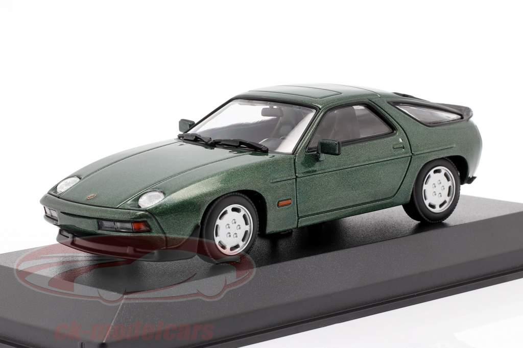 Porsche 928 S jaar 1979 groen metalen 1:43 Minichamps