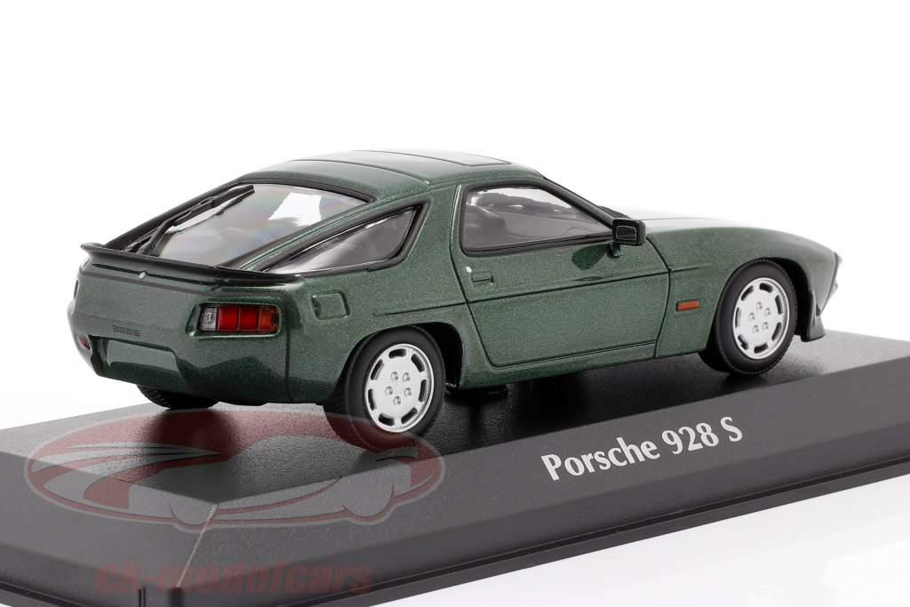 Porsche 928 S anno 1979 verde metallico 1:43 Minichamps
