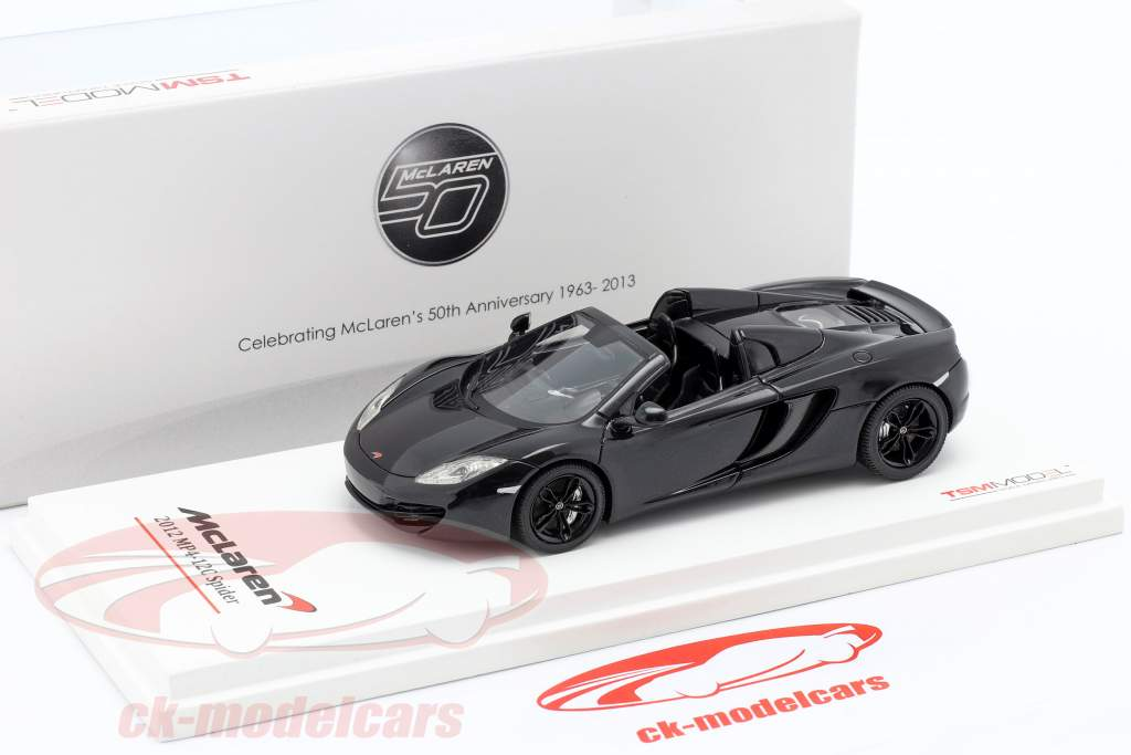 McLaren MP4-12C Spider LHD År 2012 carboxylsyre black 1:43 TrueScale