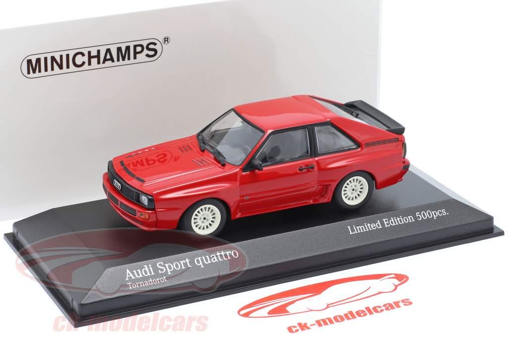 Audi Sport quattro Anno di costruzione 1984 rosso 1:43 Minichamps